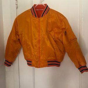 Jackets & Blazers - 80s orange bomber jacket